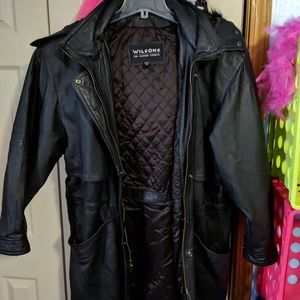 Womens wilsons leather coat size large